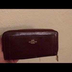 Burgundy coach wallet